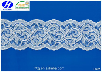 Hot Sell bulk quantity good price micro nylon spandex big voile lace fabrics for wedding dress 2017