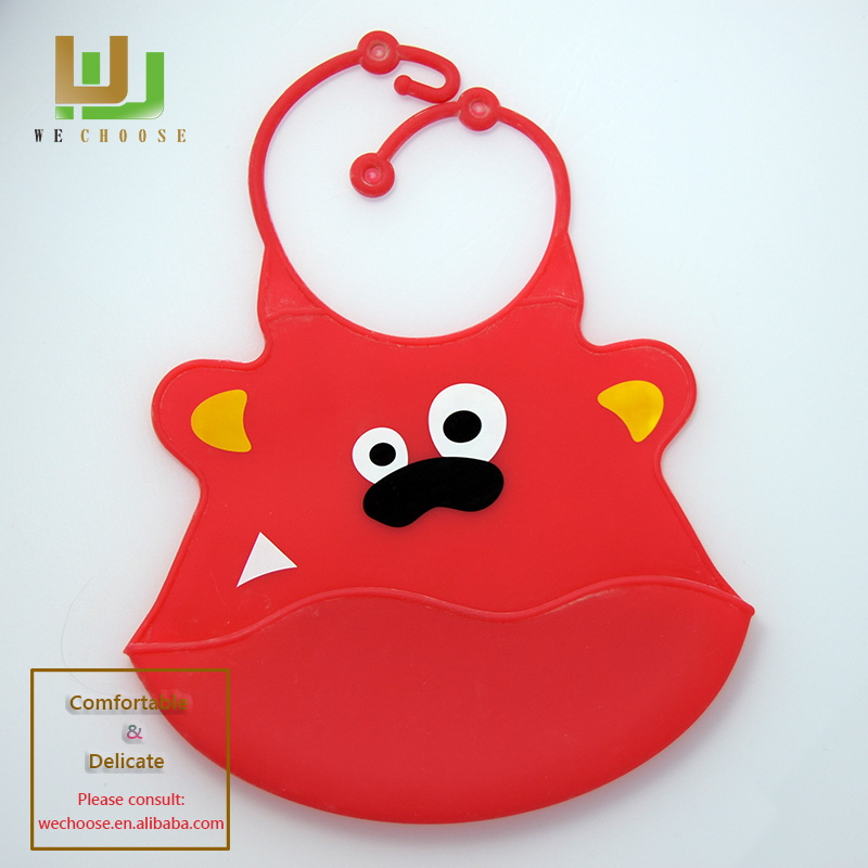 Design useful silicon rubber baby bibs