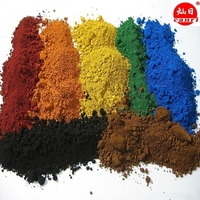 color cement iron oxide red yellow black green blue orange brown