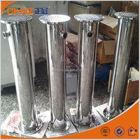 Double tubular evaporative condenser