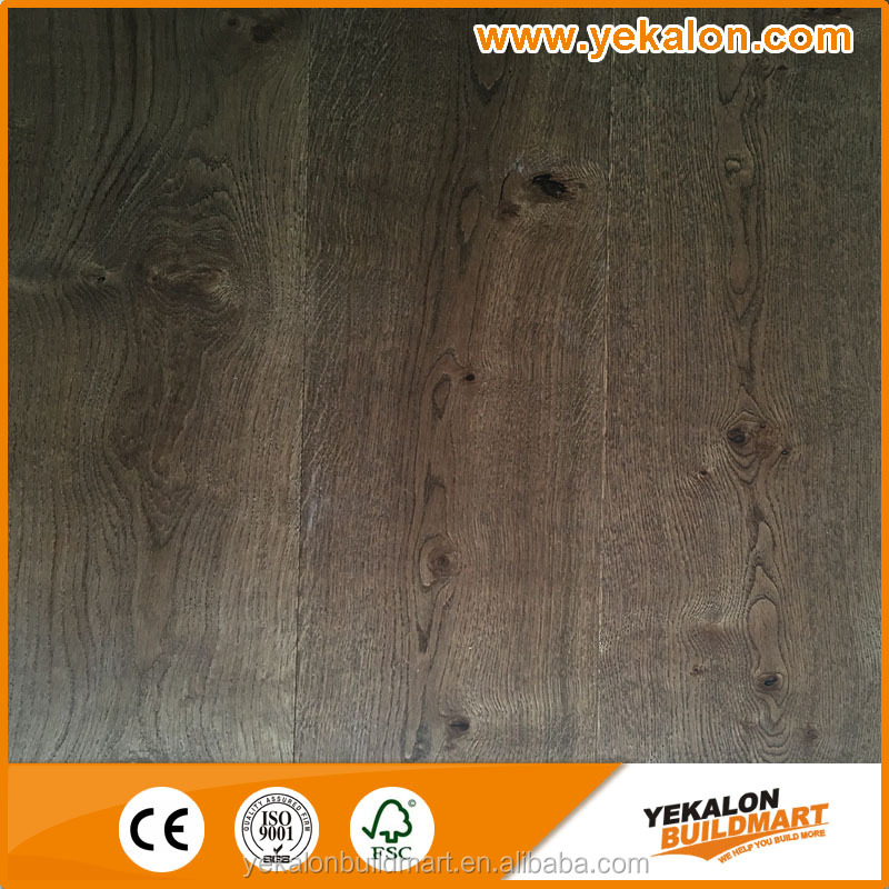 Oak stained new color 2 multi-layer engineered wood flooring Tap&Go locking