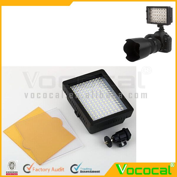W160 Professional LED Camera Video Film Shooting Light For Canon Nikon