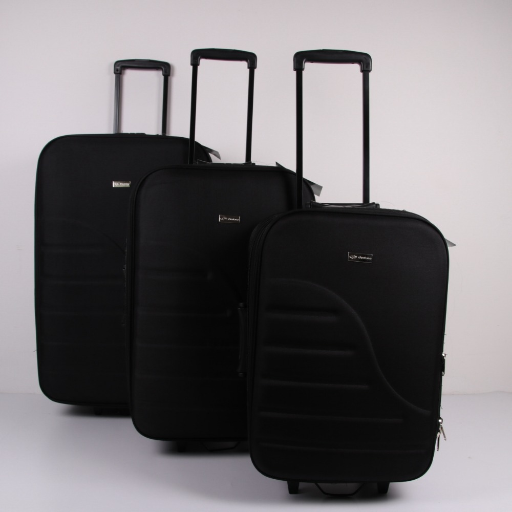 Expandable EVA polyester 20 24 28inch 3pcs trolley luggage set