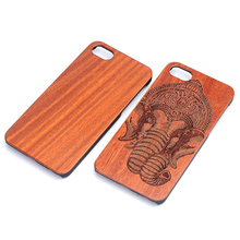 New Production Engrave 100% Eco-friendly Natural Wood + PC Hybrid Utrathin Durable Cell Phone Cover for iPhone 7 Case