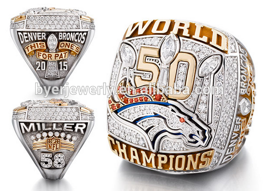 Denver Broncos 2016 Super Bowl Championship Replica Ring for sale