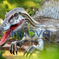 Animtronic remote control animatronic rubber dinosaur toy