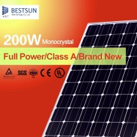 200w all black mono Solar modules with 72 pcs 125*125 mono cells with CE, TUV, UL, CSA, MCS PV CYCLE