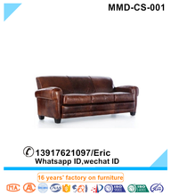 Classic Leather Sofa in Coach Classic Brown