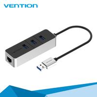 Vention USB 3.0 Lan Network Ethernet Adapter Card + 3 Port USB Hub