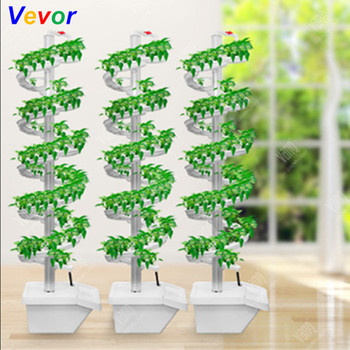 Family Vertical Spiral Plant Grow Hydroponic Tower Indoor Vegetable Cultivation Hydroponic System