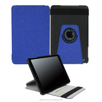 2014 New arrivals 360 Degree Rotating stand leather case for ipad mini ,Canvas case for ipad mini