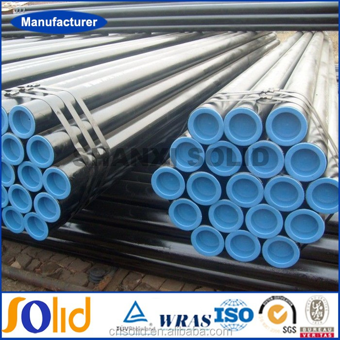 High pressure schedule 40 black Carbon steel seamless pipes