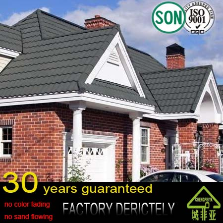 building materials color metal stone coated roof tile