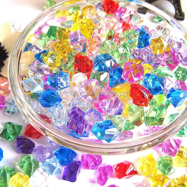 500g DIY Plastic Fishbowl Slime Beads Acrylic Crystal Gemstones For Vase Fillers Table Scatter Party Favor Wedding Decoration