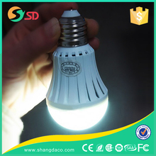9w E14 E27/B22 led intelligent emergency battery operated bulb new type high quality low price