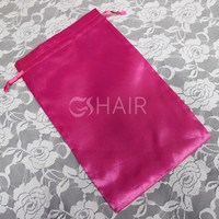 Free design for hair purchaser satin hair extension packaging bag