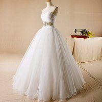 AH108 floor length real sexy simple china 2016 crystal rhinestone belt for wedding dress