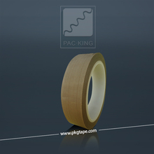 Brown color Non-stick teflon coated fiberglass fabric adhesive tapes