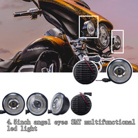 Super bright auo led head lamp high power motorcycle led driving lights for harley davidson