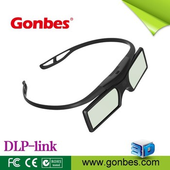 Button battery 144hz DLP 3D glasses for projectors