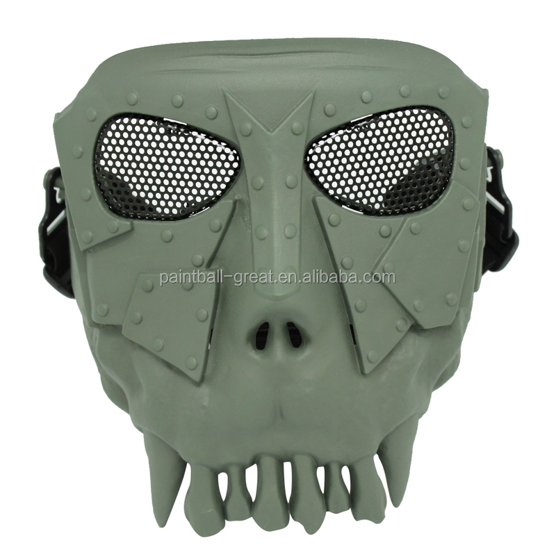 Paintball Accessories Plastic Skull Skeleton Airsoft Mesh Mask for Resisting bbs