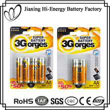 High Quality Metal Jacket R6 Size AA UM-3 1.5V Battery