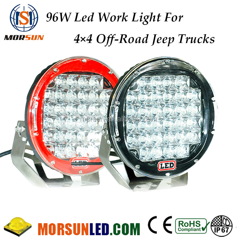 96w Round led off road work light, 4x4 offroad led driving light, 96w led working light for jeep 4x4 atv
