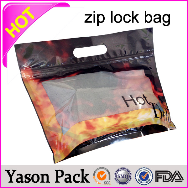 Yason mini resealable plastic ziplock bag small top open ziplock foil bags aluminum foil plastic 3 side seal zip