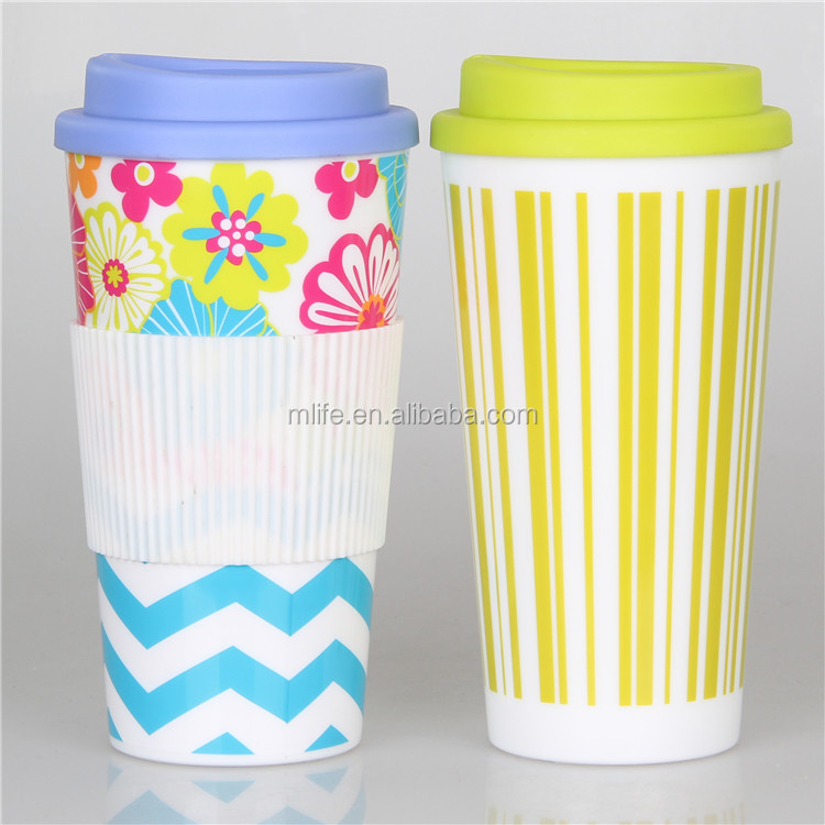 Coffee Bar first choice! Microwave safe 500ml coffee cup BPA free customer full color logo wrap around print