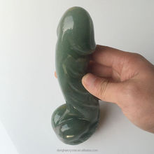 Natural polishing crystal carved false penis sex toy female masturbation Male genitalia