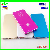 2015 New Ultra Slim Colorful Power Bank 5000mAh for Mobile Phone