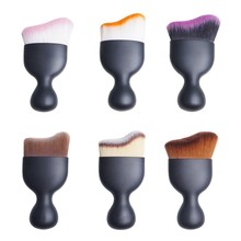 Latest Design 2017 Trend OEM Private Label Professional wood Blusher for makeup cosmetic tool single 1pc