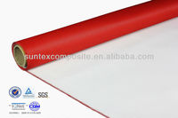 0.4mm pu coated fiberglass thermal insulation white fabric for air filter