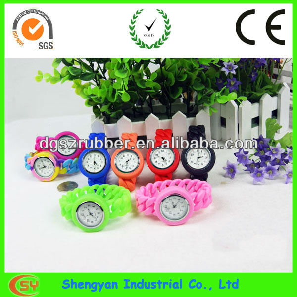 new popular silicone rubber wristband watch