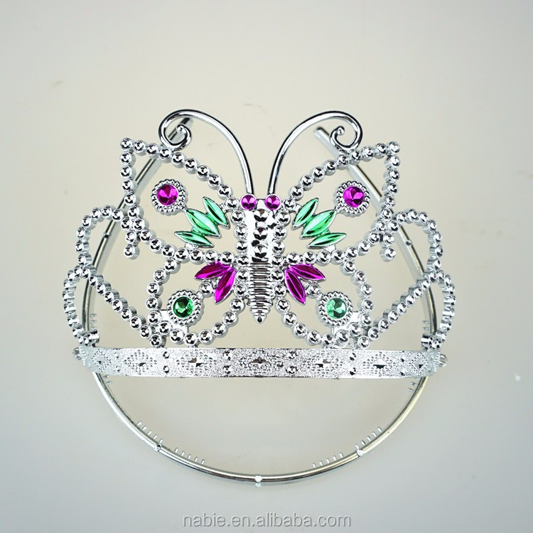 Butterfly shiny princess tiara & headband princess tiara crown and wand for cosplay
