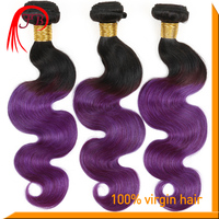 Ombre Multi Color 1B Purple Shunfa Alibaba Express Hair Extension, 100% Virgin Hair Dyeing and Hair Straightener all Available