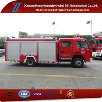 High Quality New Diesel Emergency Rescue 4t China Brand Howo 4X2 Water&Foam Fire Fighting Truck
