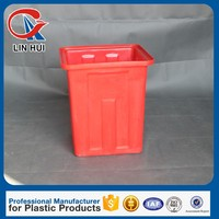 120L square plastic water tank with bottom price plastic square water tank for storage