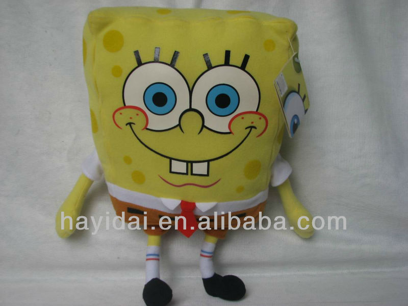 Cute sponge bob stuffed toy for children