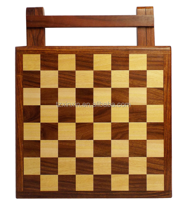wooden chess folding table with chess games 8771