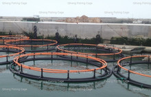 HDPE ocean based farms 40 meter fish farming cage