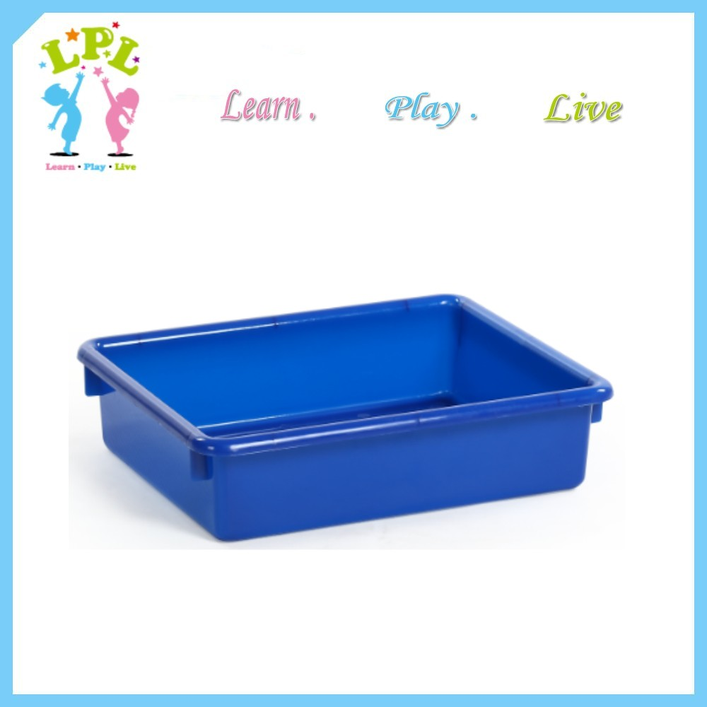 Sundries storage cubby tray 7 Liter plastic large shallow plastic tray
