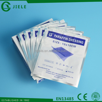 paraffin gauze dressing pad in single package