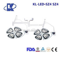 ceiling wall mounted double head operating lamp medical head light double head theatre equipment led operating lamp fda