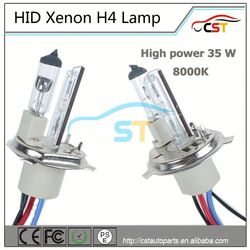 High Power 55W HID H4 8000K lamp h8 hid xenon