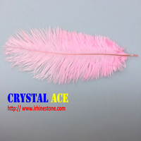 pink ostrich feathers fringe 15-75cm ostrich feathers trimming for performance stage decor