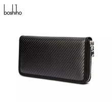 Fashionable real carbon fiber wallet for credit card holder rfid function protector