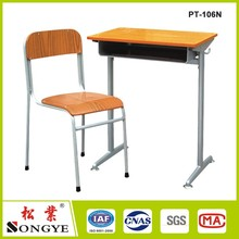 School Furniture Used High School Classroom High quality Single Set Desk and Chair