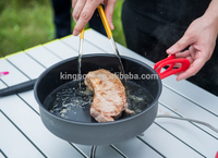 camping ceramic coated gas grill hand grill pan