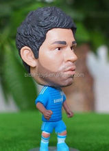mini plastic football player/Famous football player resin figure sculpture